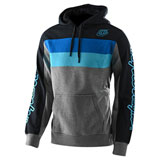 Troy Lee Block Signature Hooded Sweatshirt Grey Heather/Blue