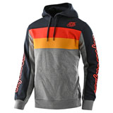 Troy Lee Block Signature Hooded Sweatshirt Grey Heather/Orange