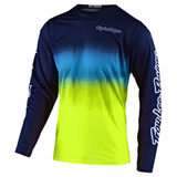 Troy Lee GP Air Stain'd Jersey Navy/Yellow