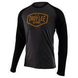 Troy Lee Motor Oil Long Sleeve Raglan T-Shirt Charcoal/Black
