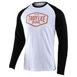 Troy Lee Motor Oil Long Sleeve Raglan T-Shirt White/Black
