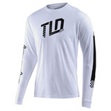 Troy Lee Trackside Long Sleeve T-Shirt White
