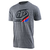 Troy Lee Precision 2.0 T-Shirt Vintage Grey Snow