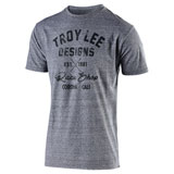 Troy Lee Vintage Race Shop T-Shirt Vintage Grey Snow