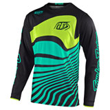 Troy Lee Youth GP Air Drift Jersey Black/Turquoise