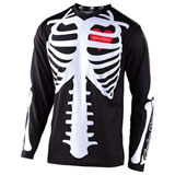 Troy Lee Youth GP Skully Jersey Black/White