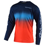 Troy Lee Youth GP Stain'd Jersey Navy/Orange