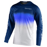 Troy Lee Youth GP Stain'd Jersey Navy/White