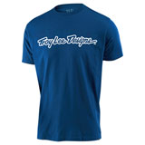 Troy Lee Youth Signature T-Shirt Royal Blue