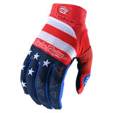 Troy Lee Air Stripes & Stars Gloves Red
