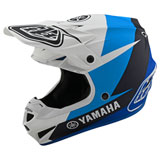 Troy Lee Youth SE4 Yamaha MIPS Helmet White/Blue
