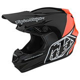 Troy Lee GP Block Helmet Black/Orange
