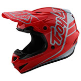 Troy Lee GP Silhouette Helmet Red/Silver
