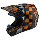 Troy Lee SE4 Checker MIPS Helmet Black/Gold