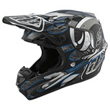 Troy Lee SE4 Eyeball Composite MIPS Helmet Black/Silver