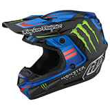 Troy Lee SE4 Flash Monster Carbon MIPS Helmet Blue