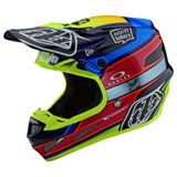 Troy Lee SE4 Speed Team Carbon MIPS Helmet Blue/Yellow