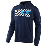 Troy Lee Yamaha Checkers Hooded Sweatshirt Navy Heather