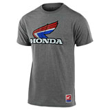 Troy Lee Honda Retro Victory Wing T-Shirt Ash Heather