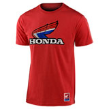 Troy Lee Honda Retro Victory Wing T-Shirt Red Heather