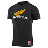 Troy Lee Honda Retro Wing T-Shirt Charcoal Heather