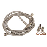 Tusk Front ATV Steel Braided Brake Line