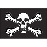 Tusk Skull and Cross Bones Replacement Flag