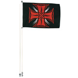 Tusk Tribal Iron Cross Flag