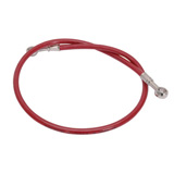 Tusk Front Motorcycle Steel Braided Brake Line