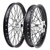 Tusk Impact Complete Front and Rear Wheel Black Rim/Black Spoke/White Hub