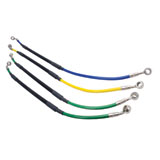 Tusk Rear Motorcycle Steel Braided Brake Line