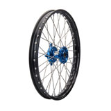 Tusk Impact Complete Wheel - Front Black Rim/Silver Spoke/Blue Hub