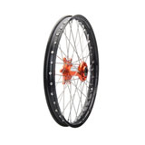 Tusk Impact Complete Wheel - Front Black Rim/Silver Spoke/Orange Hub