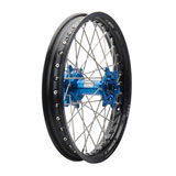 Tusk Impact Complete Wheel - Rear Black Rim/Silver Spoke/Blue Hub