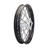 Tusk Impact Complete Wheel - Rear Black Rim/Black Spoke/White Hub