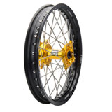 Tusk Impact Complete Wheel - Rear Black Rim/Silver Spoke/Yellow Hub