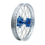 Tusk Impact Complete Wheel - Rear Silver Rim/Silver Spoke/Blue Hub