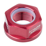 Tusk Nyloc Axle Nut Red