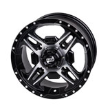 Tusk Beartooth Wheel Machined/Black