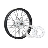 Tusk Impact Complete Rear Wheel Package Black Rim/Black Spoke/White Hub