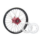 Tusk Impact Complete Rear Wheel Package Black Rim/Silver Spoke/Red Hub