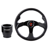Tusk Steering Wheel and Hub Kit Black Carbon