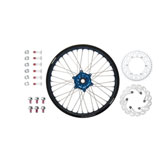 Tusk Impact Complete Rear Wheel Package Black Rim/Silver Spoke/Blue Hub