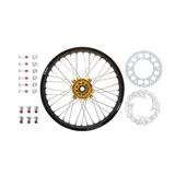 Tusk Impact Complete Rear Wheel Package Black Rim/Silver Spoke/Yellow Hub