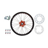 Tusk Impact Complete Rear Wheel Package Black Rim/Silver Spoke/Orange Hub