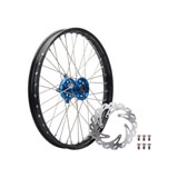 Tusk Impact Complete Front Wheel Package Black Rim/Silver Spoke/Blue Hub