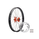 Tusk Impact Complete Front Wheel Package Black Rim/Silver Spoke/Orange Hub