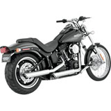 "Vance & Hines Twin Slash 3"" Slip-On Motorcycle Exhaust (NO CA)"