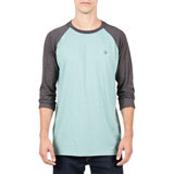 Volcom Solid Heather 3/4 Sleeve Raglan T-Shirt