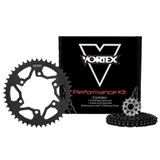 Vortex V3 GFRS Go Fast 520 Conversion Chain and Sprocket Kit Black Anodized Chain